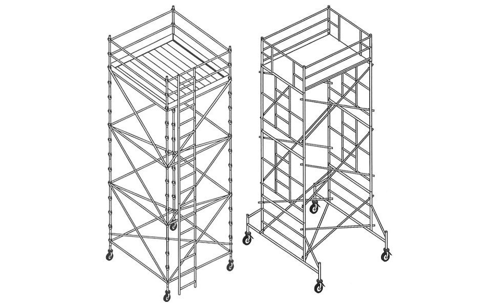 illustration-digital-scaffolding-with-ladders