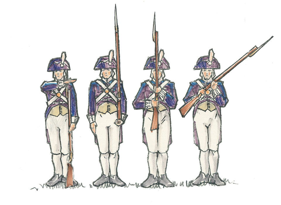 illustration-mixed-media-four-colonial-soldiers