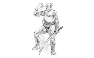 illustration-sketch-asian-warrior-style